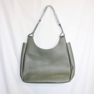 Neiman & Marcus Olive Green Tote Bag